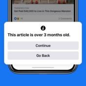 Facebook waarschuwt voor oud nieuws