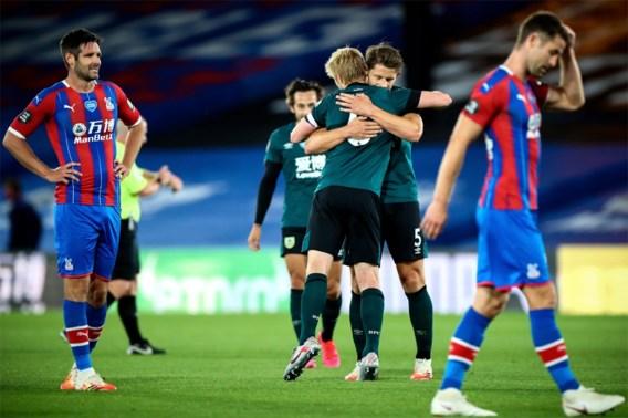 Crystal Palace gaat zonder Benteke in eigen huis onderuit tegen Burnley