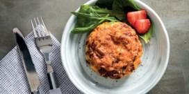 Eiermuffins met paprika & rode ui