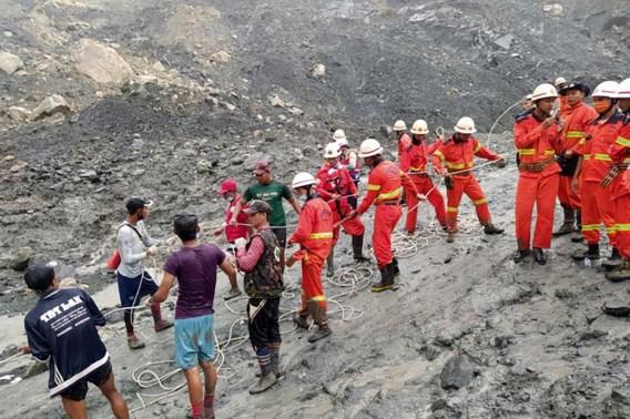 Dodelijke aardverschuiving in Myanmar: minstens 162 sterfgevallen en 54 gewonden