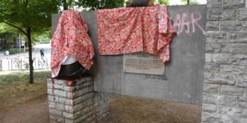 Beschadigd Leopold II-beeld teruggeplaatst: 'Halle zwicht niet voor vandalisme'