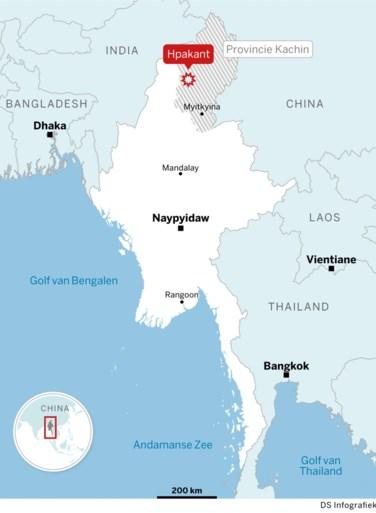 Beelden tonen dodelijke aardverschuiving in Myanmar