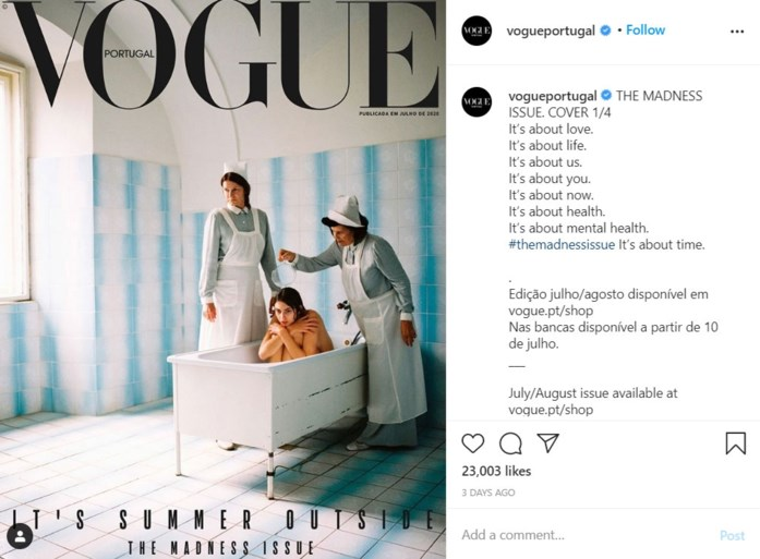 Vogue Portugal trekt controversiële cover in na kritiek