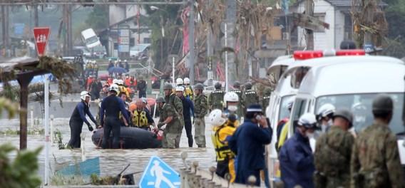 Dodentol loopt op na overstromingen in Japan