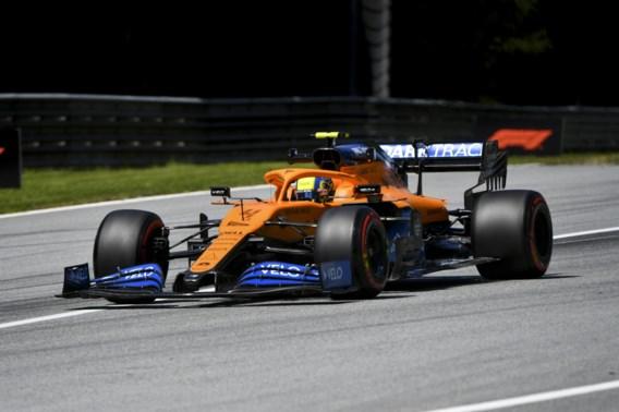 Lando Norris drie plaatsen achteruit op startgrid GP van Steiermark