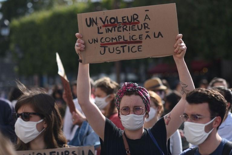 Betogingen in heel Frankrijk tegen 'minister van Verkrachting'