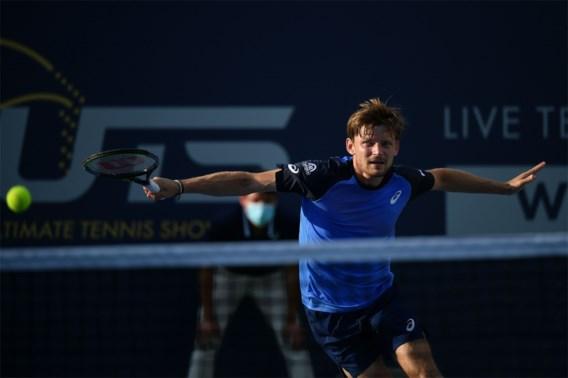 David Goffin heeft geen verhaal tegen Tsitsipas, die hij wel opnieuw treft in halve finales Ultimate Tennis Showdown