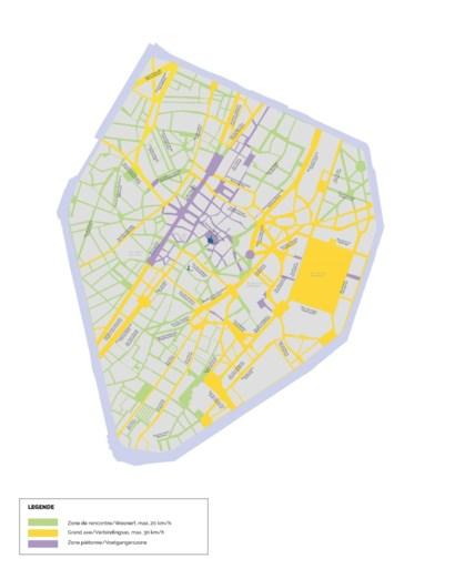 Brusselse Vijfhoek wordt onderverdeeld in aantal woonerven