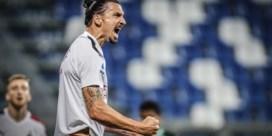 Zlatan Ibrahimovic loodst Milan, met Alexis Saelemaekers in de basis, langs Sassuolo