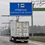 'Elektrische snelwegen moeten vrachtverkeer vergroenen'
