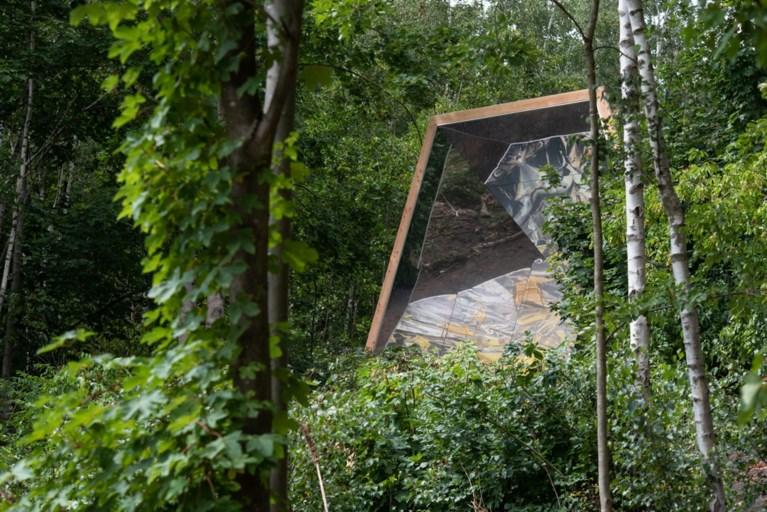 Spiegelpaviljoen toont de natuur op zijn kop