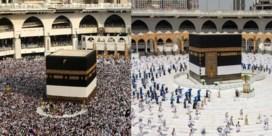 Unieke beelden uit Mekka, slechts duizend moslims nemen deel aan hadj
