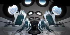 Virgin Galactic stelt interieur van commercieel ruimteschip voor
