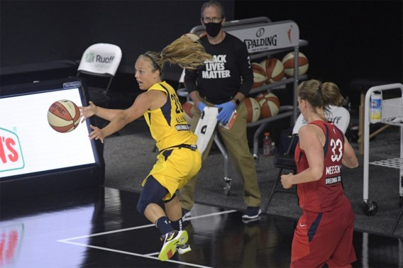 Julie Allemand evenaart assistrecord van Indiana Fever, ondanks nederlaag