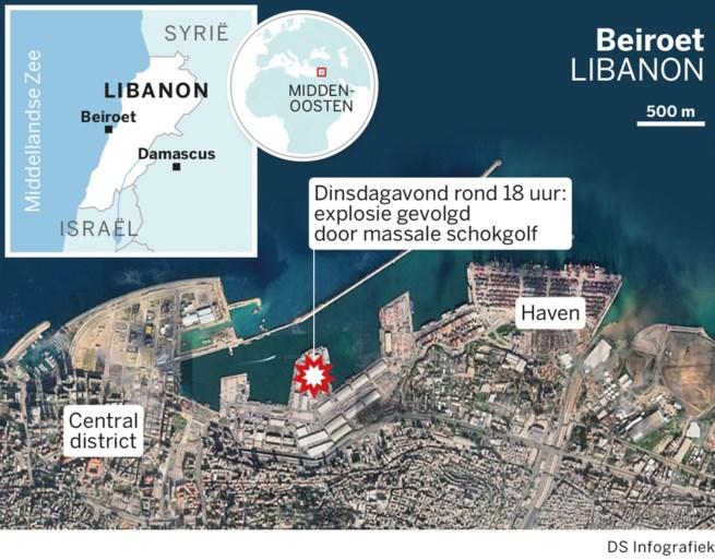Zeker 135 doden na zware explosie in Beiroet, ook twee Belgen omgekomen