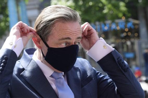De Wever: 'Mondmasker enkel op drukke plaatsen handhaven'