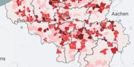 Kaart. 229 gemeenten overschrijden alarmdrempel, zoveel nieuwe besmettingen telt uw gemeente