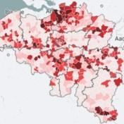Kaart. 230 gemeenten overschrijden alarmdrempel, zoveel nieuwe besmettingen telt uw gemeente