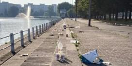 Gentse Watersportbaan vol afval na warme dag