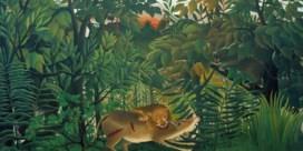 Le lion, ayant faim, se jette sur l'antilope, Henri Rousseau (1905)
