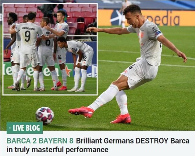 Kranten na Barcelona - Bayern München (2-8): 'Zege van de eeuw' versus 'Historische slachting'