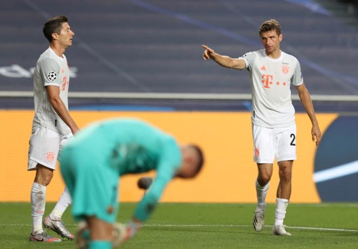 Bayern München naar halve finales Champions League na makkelijke winst tegen Barcelona (2-8)