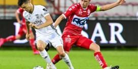 Kortrijk beleeft moeilijke avond tegen Eupen, maar de paal (2x) en doelman Jakubech brengen redding