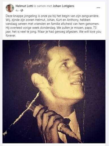 Helmut Lotti neemt afscheid van vader