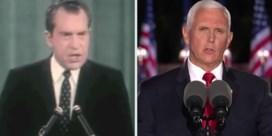 Hoe Mike Pence 52 jaar later in de voetsporen van Richard Nixon treedt