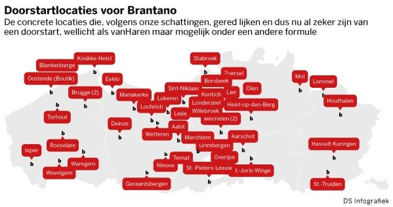 vanHaren start voormalige Brantanowinkels pas vanaf 1 februari door