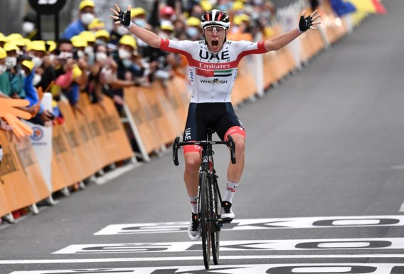 Sloveense dubbelslag in Tour: Pogacar wint Pyreneeënrit, Roglic pakt geel