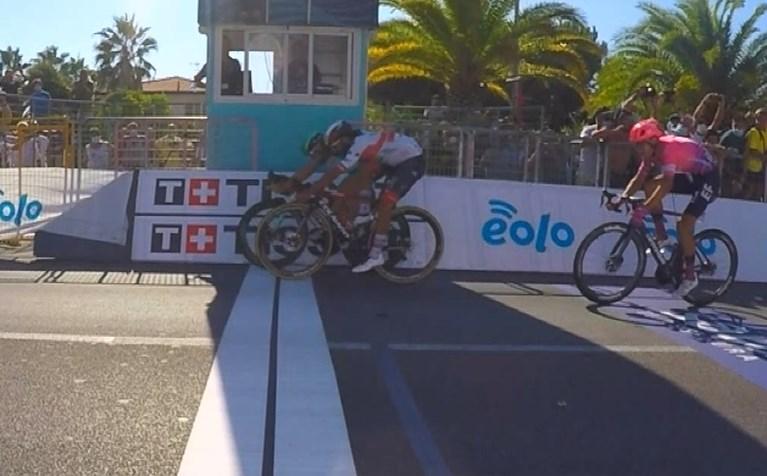 Openingsrit Tirreno-Adriatico voor Ackermann, Merlier komt ten val in voorbereiding van de spurt