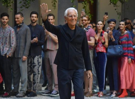 Armani zal modeshow live uitzenden op televisie