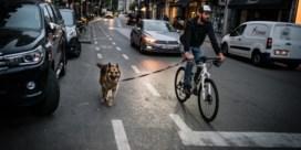 Auto en fiets strijden om territorium in Brussel