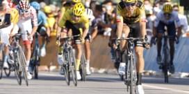 Wout van Aert blijft verrassen met derde plaats in laatste Alpenrit: 'Misschien kan ik op termijn dit soort etappes winnen'