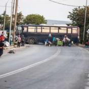 Politieoperatie bezig om vluchtelingen op Lesbos naar nieuw kamp te brengen