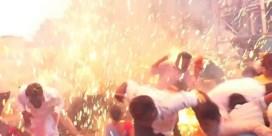 Tientallen ballonnen ontploffen op verjaardagsfeest Indiase premier