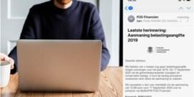 Gerechtsdeurwaarders waarschuwen voor mails met valse facturen