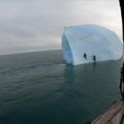 IJsberg kantelt tijdens beklimming avonturiers