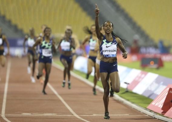 Obiri (3.000m) en Kipyegon (800m) imponeren met beste tijden van seizoen op Diamond League in Doha