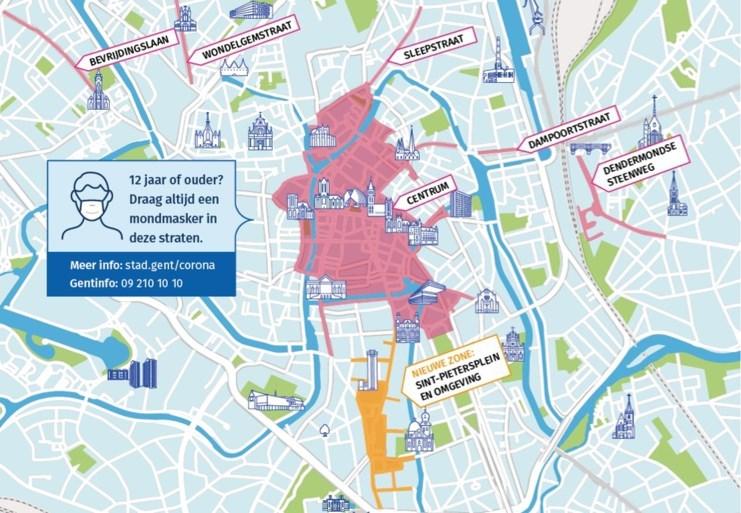 Gent houdt vast aan mondmaskerplicht: 'Het aantal besmettingen stijgt nog steeds'