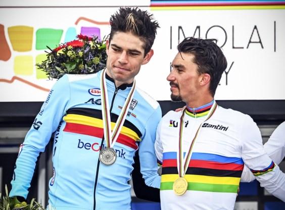 """Hele wielerwereld gunt Julian Alaphilippe de wereldtitel, Primoz Roglic wordt door het slijk gehaald: """"Hij komt Vlaanderen niet meer in"""""""