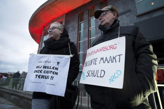 Arco-protest in Antwerpen bij de nieuwjaarsreceptie van CD&V, in januari 2016.