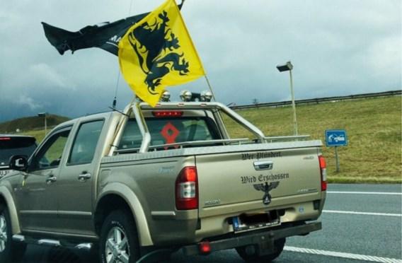Pick-up trekt aandacht op betoging Vlaams Belang: 'Niets te maken met nazisme'