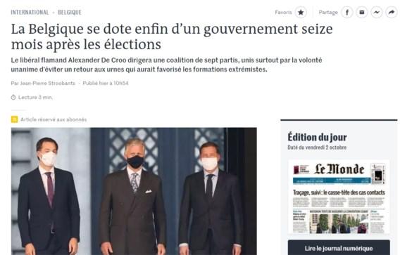 Buitenland over onze nieuwe regering: 'Vertrouwen van de burger moet herwonnen worden'