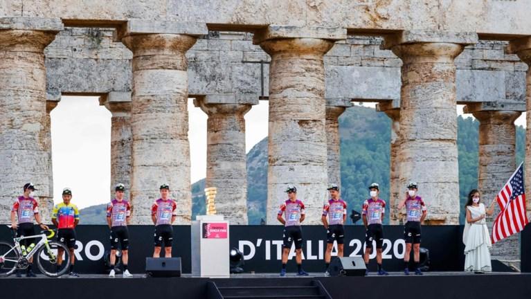 Na knotsgekke truitjes showt Education First nu ook bijzondere tijdrithelmen voor Giro