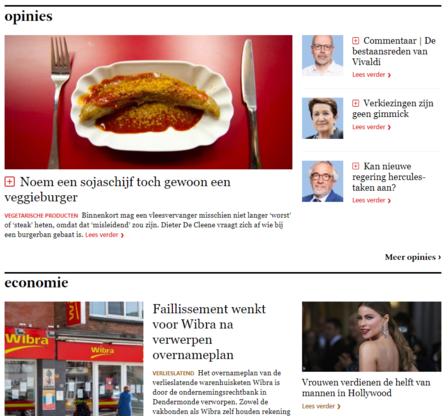 Welkom op de vernieuwde website en nieuwsapp van De Standaard