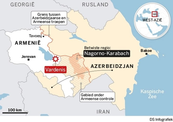 Staakt-het-vuren ingegaan in Nagorno-Karabach