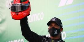 Hamilton zet zijn voet naast Schumacher