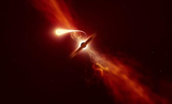 Astronomen zien 'spaghettificatie' in actie